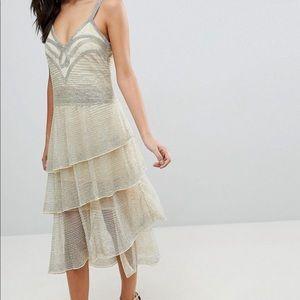 ASOS 1920s flapper beaded dress